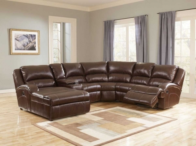 L Shaped Sleeper Sofa Brown Leather Sectional With Chaise Picture 52