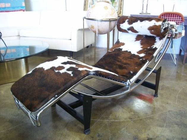 Mid Century Modern Chaise Lounge In Cowhide Image 75