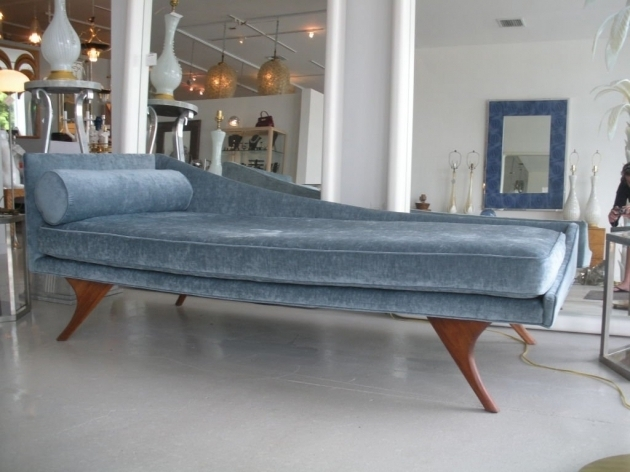 Mid Century Modern Chaise Lounge Sofa Photo 20