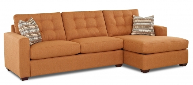 Modern Orange Chaise Lounge Sleeper Sofa Image 21