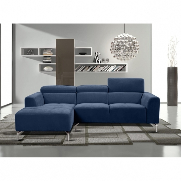 Navy Blue Sectional Sofa With Chaise Gemma Sectional Sofas With Adjustable Headrests Picture 10