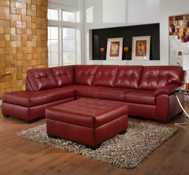 Simmons Upholstery Leather Couch With Chaise 2 Piece Sectional With Tufted Seats Back Photo 39