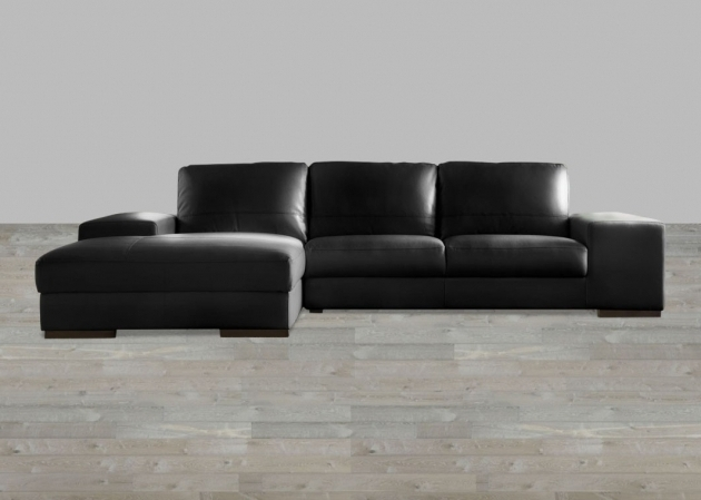 Sussex Collection Split Black Leather Sectional With Chaise Images 61