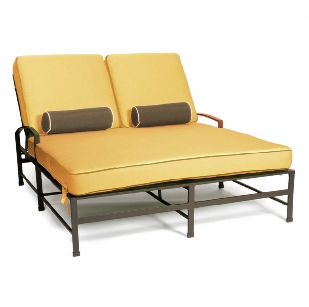 Yellow Double Chaise Lounge Cushions Furniture Ideas Picture 71