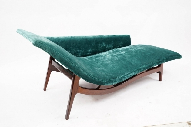 Zuo Outdoor Mid Century Modern Chaise Lounge Modern Green Velvet Photos 41