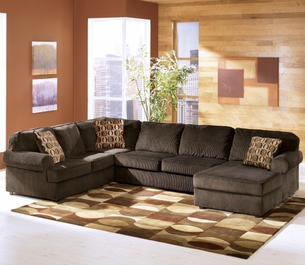 Ashley Furniture Chaise Sofa Vista Chocolate Casual 3 Piece Sectional Image 93