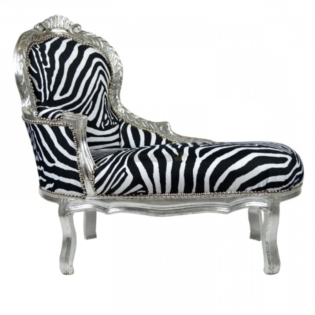 Barok King Kinder Zebra Chaise Lounge Silver Pictures 16