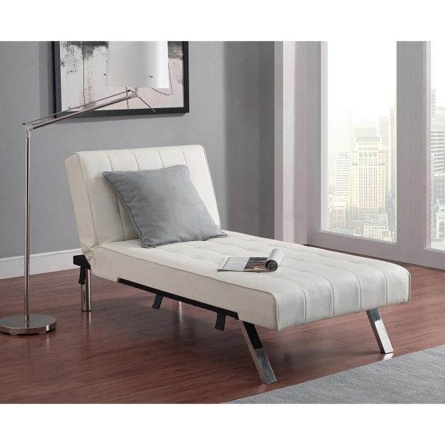 Bedroom Axis Stylish White Leather Chaise Lounge Picture 25