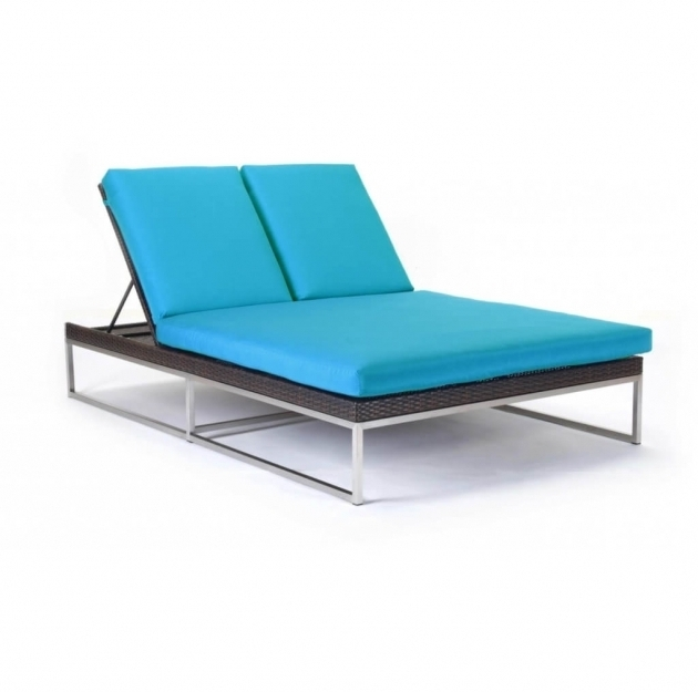 Blue Double Chaise Lounge Cushion Furniture Pictures 03