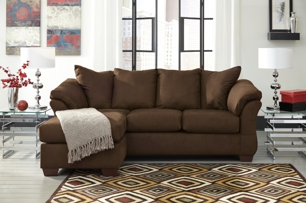 Brown Ashley Furniture Chaise Sofa Furniture Fabric Sectionals Image 24
