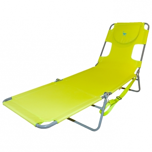 Folding Ostrich Chaise Lounge Yrllow Image 95