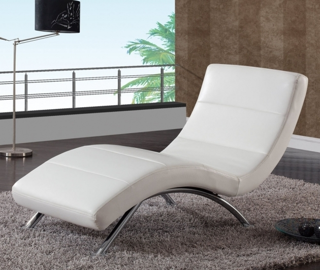Global R820 White Leather Chaise Lounge Image 73