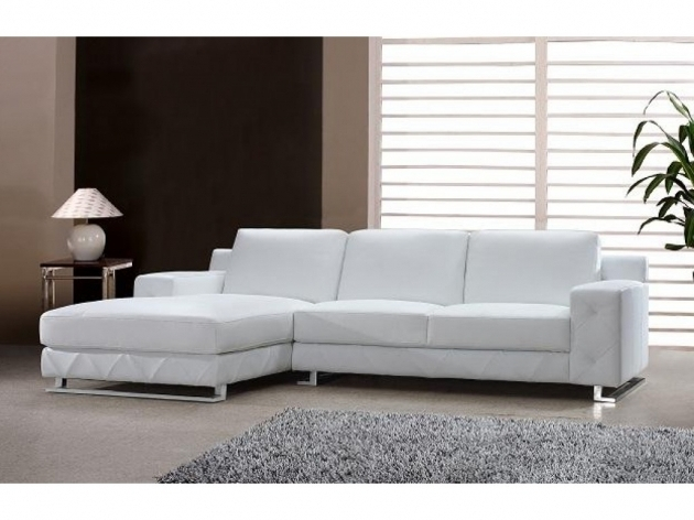 Leather White Sectional Sofa With Chaise Picture 43