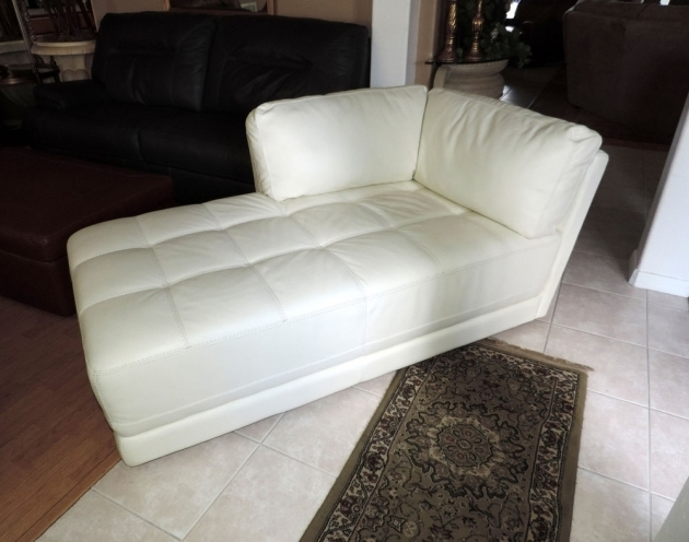 Macys Traverso Modern White Leather Chaise Lounge Picture 30