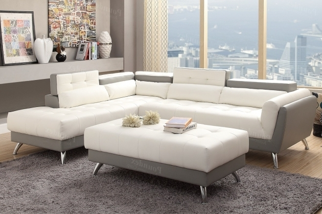 Po F6979 White Sectional Sofa With Chaise Contemporary Ideas Image 15