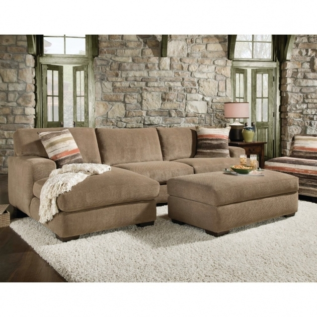 Small Sectional Sofa With Chaise 2 Piece With Striped Decorative Pillows On White Fur Rug Images 81