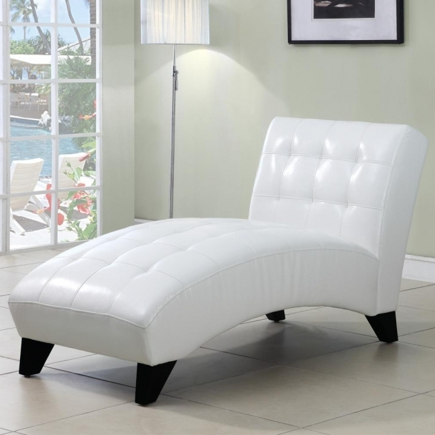White Faux Leather Chaise Lounge Picture 65