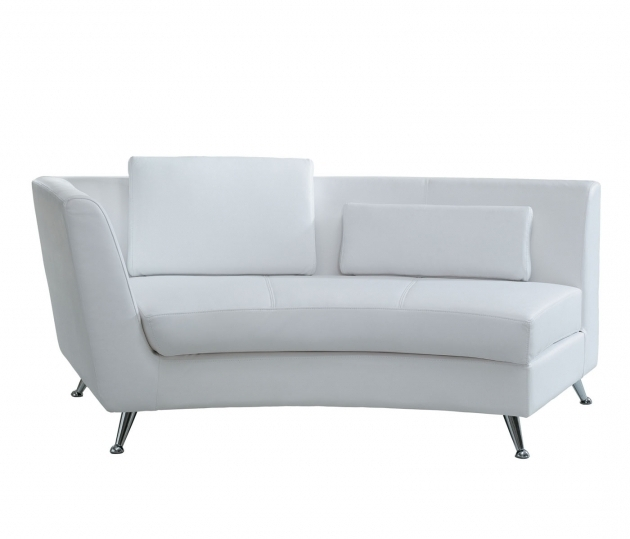 White Leather Chaise Lounge For Decoration Home Ideas Photos 25