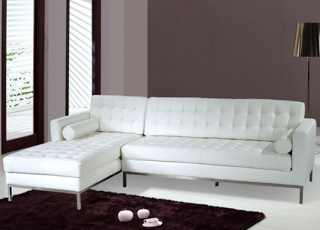 White Sectional Sofa With Chaise Furniture Saving Small Spaces Living Room Design Photo 09