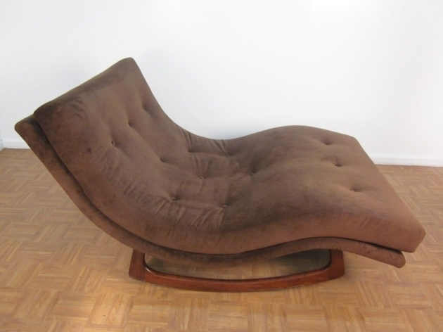 Brown Fabric Indoor Double Chaise Lounge Images 24