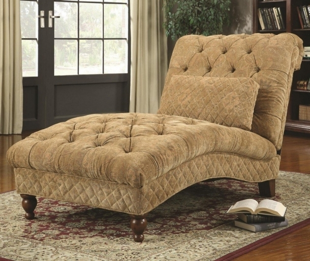 Indoor Double Chaise Lounge Tufted Luxurious Design Images 20