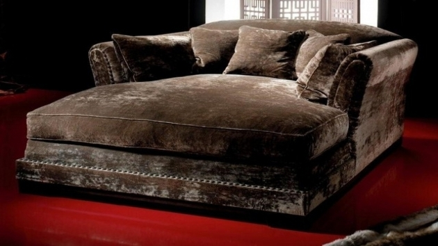 Leather Daybeds Oversized Indoor Double Chaise Lounge ...