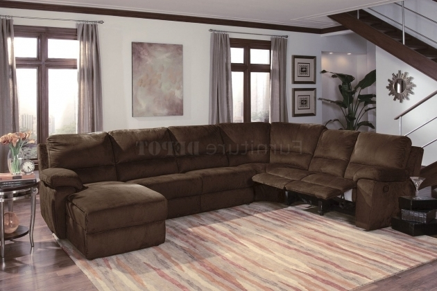 Cheap Remodel Reclining Sofa With Chaise Small Size  Pictures 07