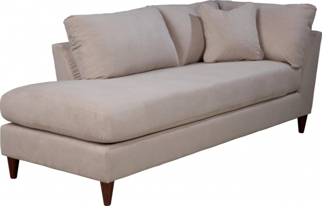 Contemporaryright Arm Chaise Lounge With Toss Pillow L16
