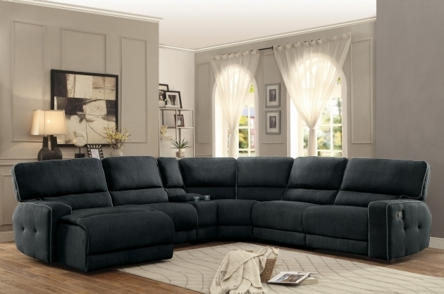 Keamey Reclining Sectional Sofa Set A Polyester Reclining Sofa With Chaise Pictures 77