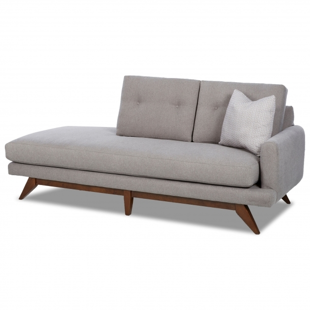 Mid Century Modern Klaussner Right Arm Chaise Lounge N02