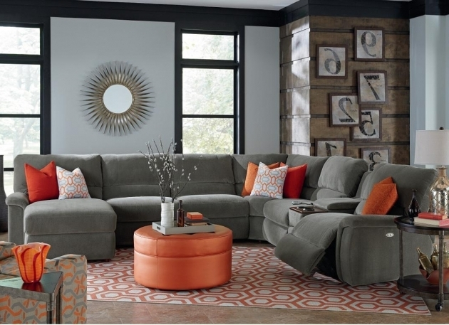 Seven Piece Sectional Reclining Sofa With Chaise With Cupholders La Z Boy Picture 89