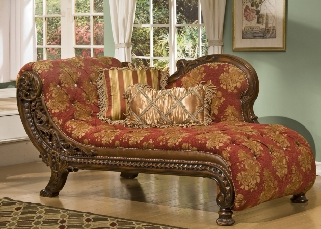 Brown Varnished Teak Wood Indoor Oversized Chaise Lounge With Old Red Flower Patterned Canvas Padded Chaise Lounge Seater Pics 59