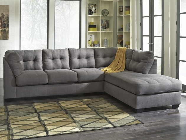 Ashley Furniture Sofa Chaise Benchcraft Maier Charcoal 2 Piece Sectional W Sleeper Sofa Left Pictures 78