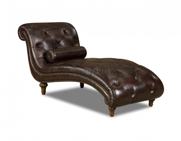 Brown Leather Chaise Lounge Chair And Top Grain Tufted Leather Traditional Chaise Photos 66