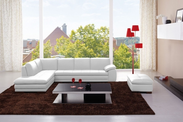 Cado Modern Furniture White Leather Sectional With Chaise Images 76