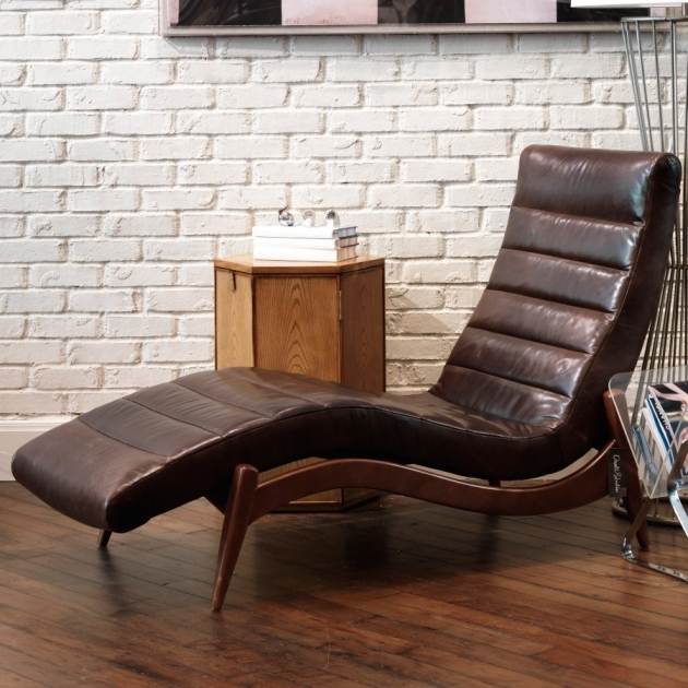 Chaise Lounge Indoor Unique Brown Leather Chair Pictures 14