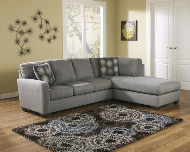 Charcoal Gray Sectional Sofa With Chaise Lounge Ashley Zella Photo 13