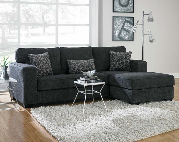 Charcoal Gray Sectional Sofa With Chaise Lounge Furnishings On Home Decoration Image 79