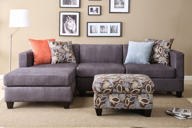 Charcoal Gray Sectional Sofa With Chaise Lounge Microfiber Pictures 75