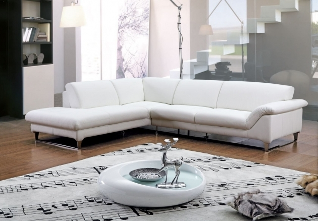 Contemporary White Leather Sectional With Chaise Sets Image 67