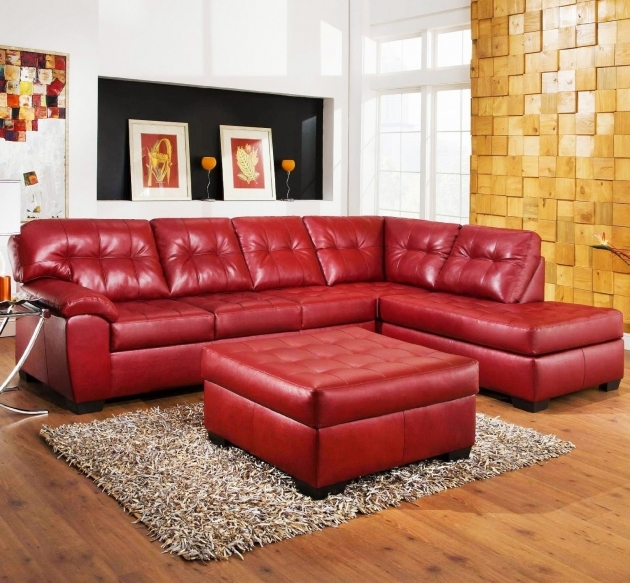 Couch Red Leather Sectional With Chaise 3 Piece Images 37