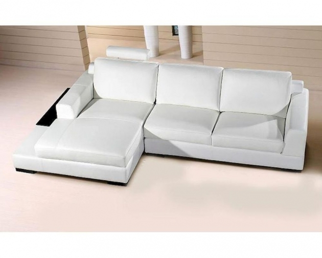 Extended Base White Leather Sectional With Chaise Images 02