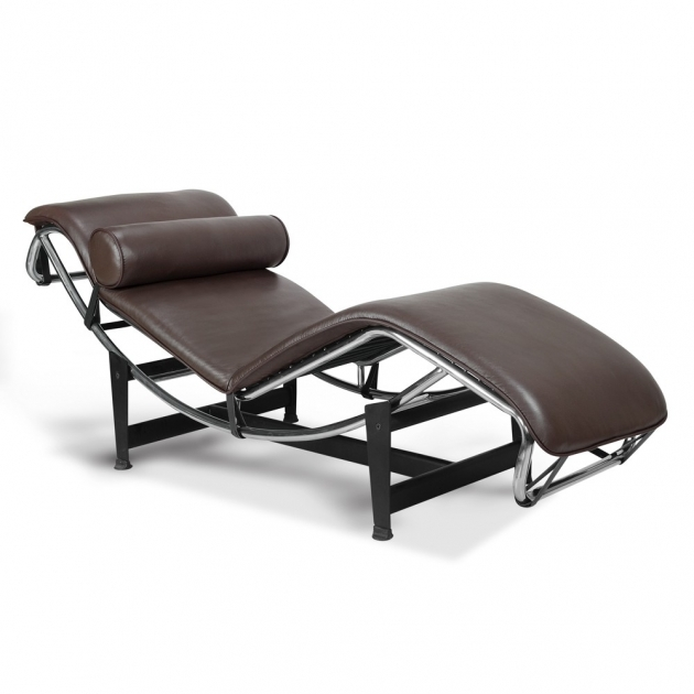 Leather Chaise Lounge Chair Le Corbusier Lc4 Chaise Lounge Broun Leather Photos 82