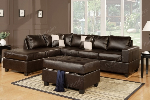 Leather Sectional With Chaise Couch In Bonded Leather Sectionals Sofa Images 64