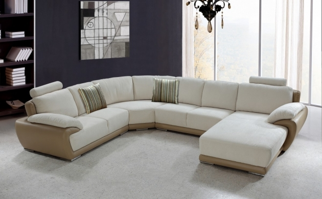 Microfiber White Leather Sectional With Chaise Pictures 06
