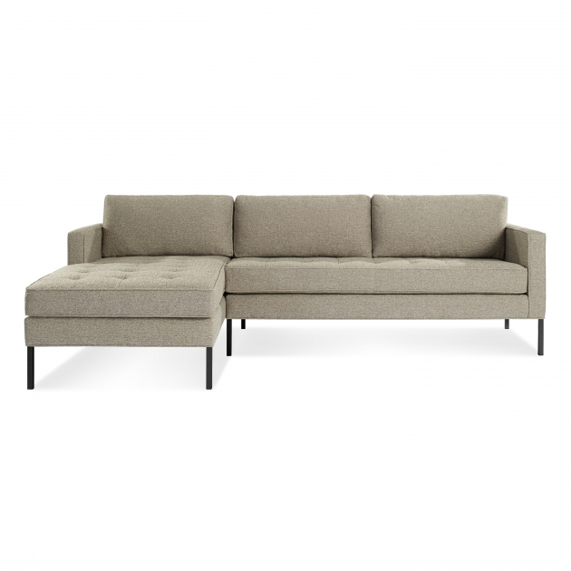 Modern Chaise Sofa With Black Wooden Furniture White