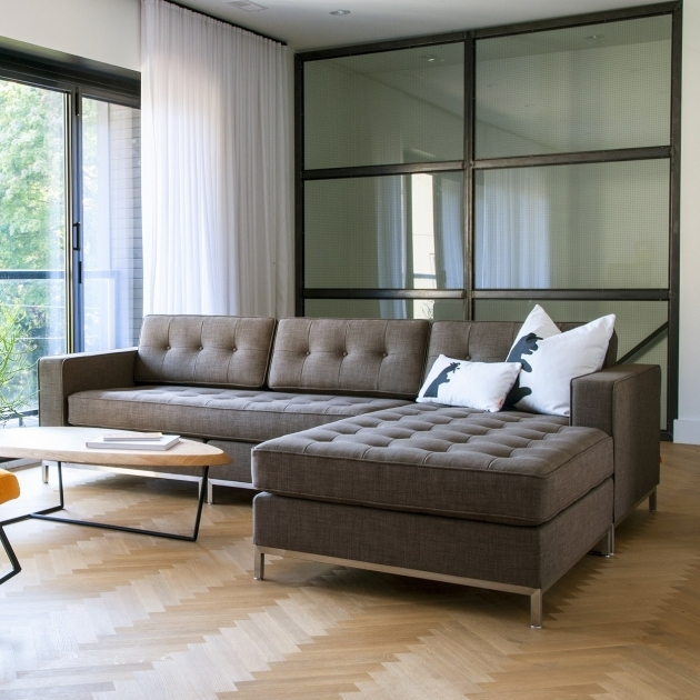 Modern Chaise Sofa Tufted Grey Apartment Sectional Sofas With Modern Design Ideas Plus Metal Leg And Oval Coffee Table Pics 90