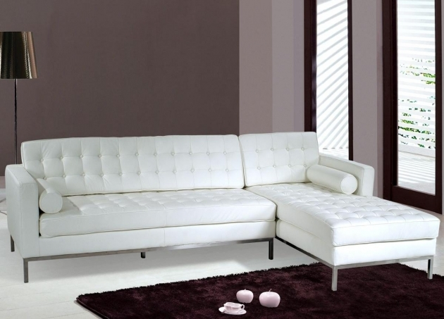 Modern White Leather Sectional With Chaise Sets Picture 91