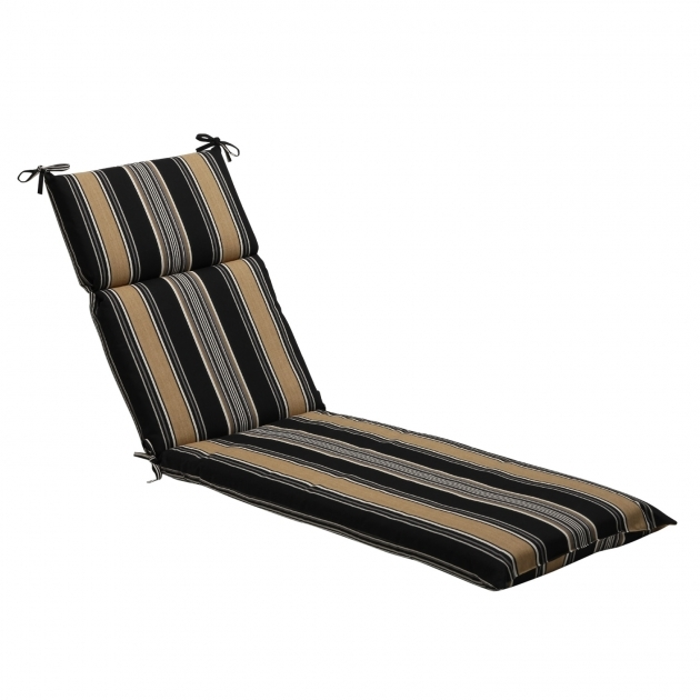 Outdoor Chaise Lounge Cushions Black Tan Stripe Ideas Images 04