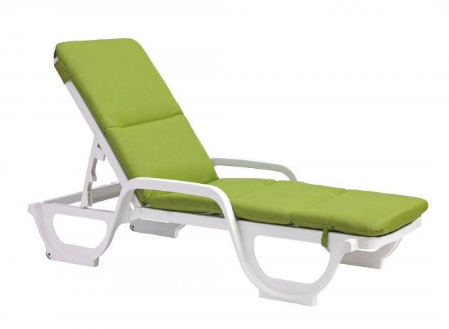 Outdoor Chaise Lounge Cushions Green Image 73